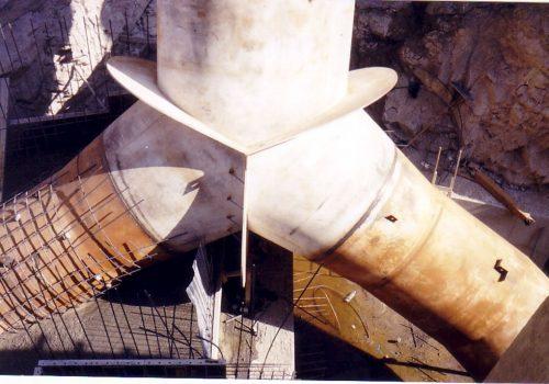 Biforcação de Conduta -  Barragem Rabasal Portugal EDP 2001