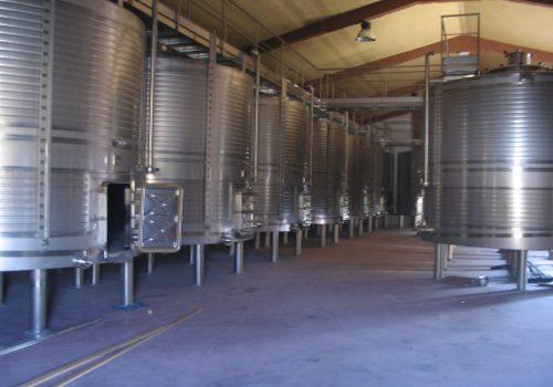 Depósitos de Fermentação Tintos; Ind. Vinicola; Espanha