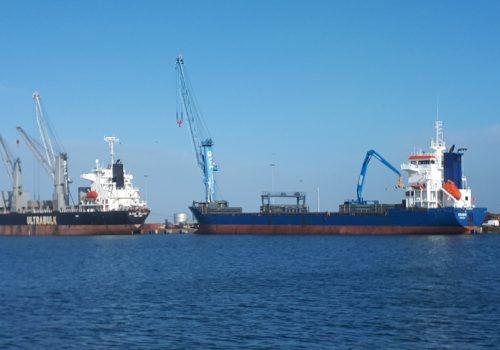 Pórtico para porto de Toulon, França. Eurocrane 2019